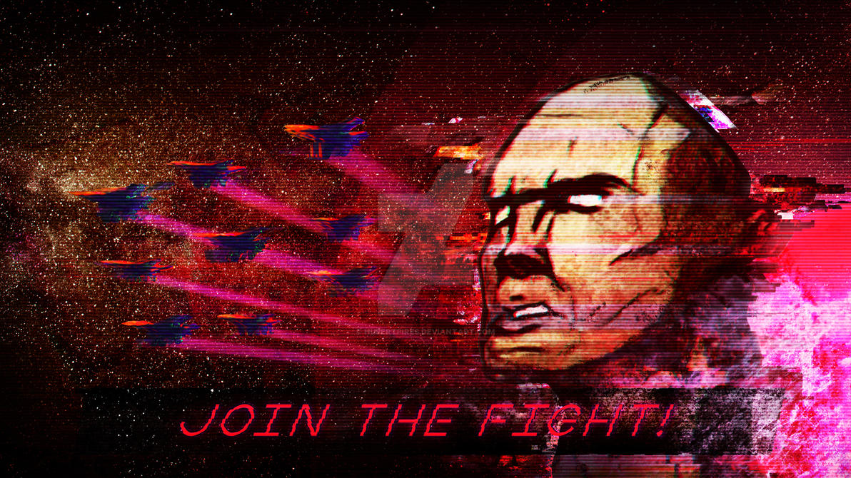 Join the Fight! - Synthwave Retro Background by hubertpires on