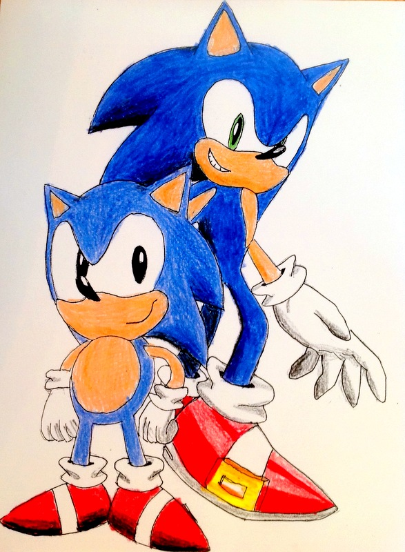 Modern and Classic sonic by silversonic2000 on DeviantArt