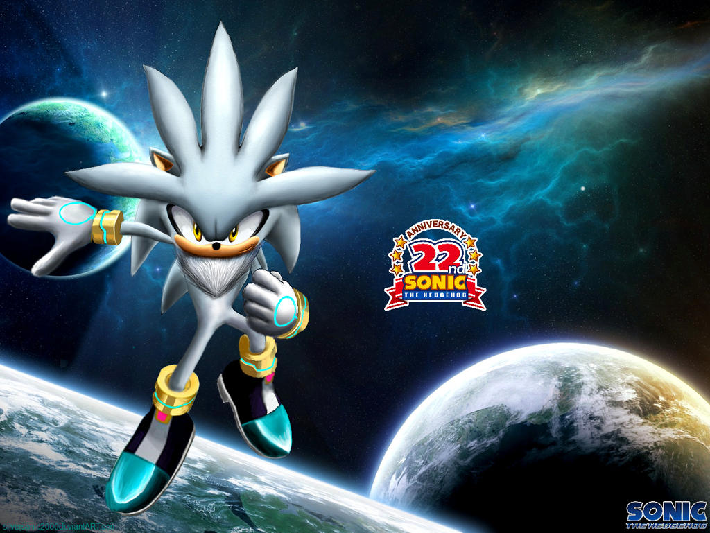 Silver the hedgehog wallpaper by silversonic2000 on DeviantArt