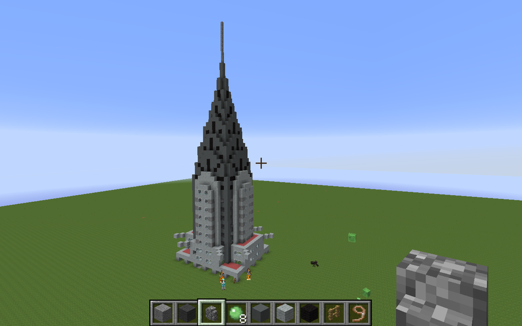 Minecraft chrysler building crown by silversonic2000 on for What is needed to build a house