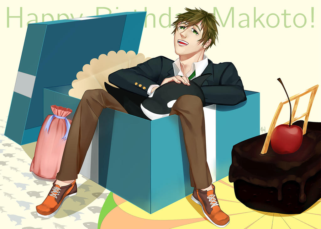 Happy baelated baerthday Makoto Tachibaena! by Soured-Milk