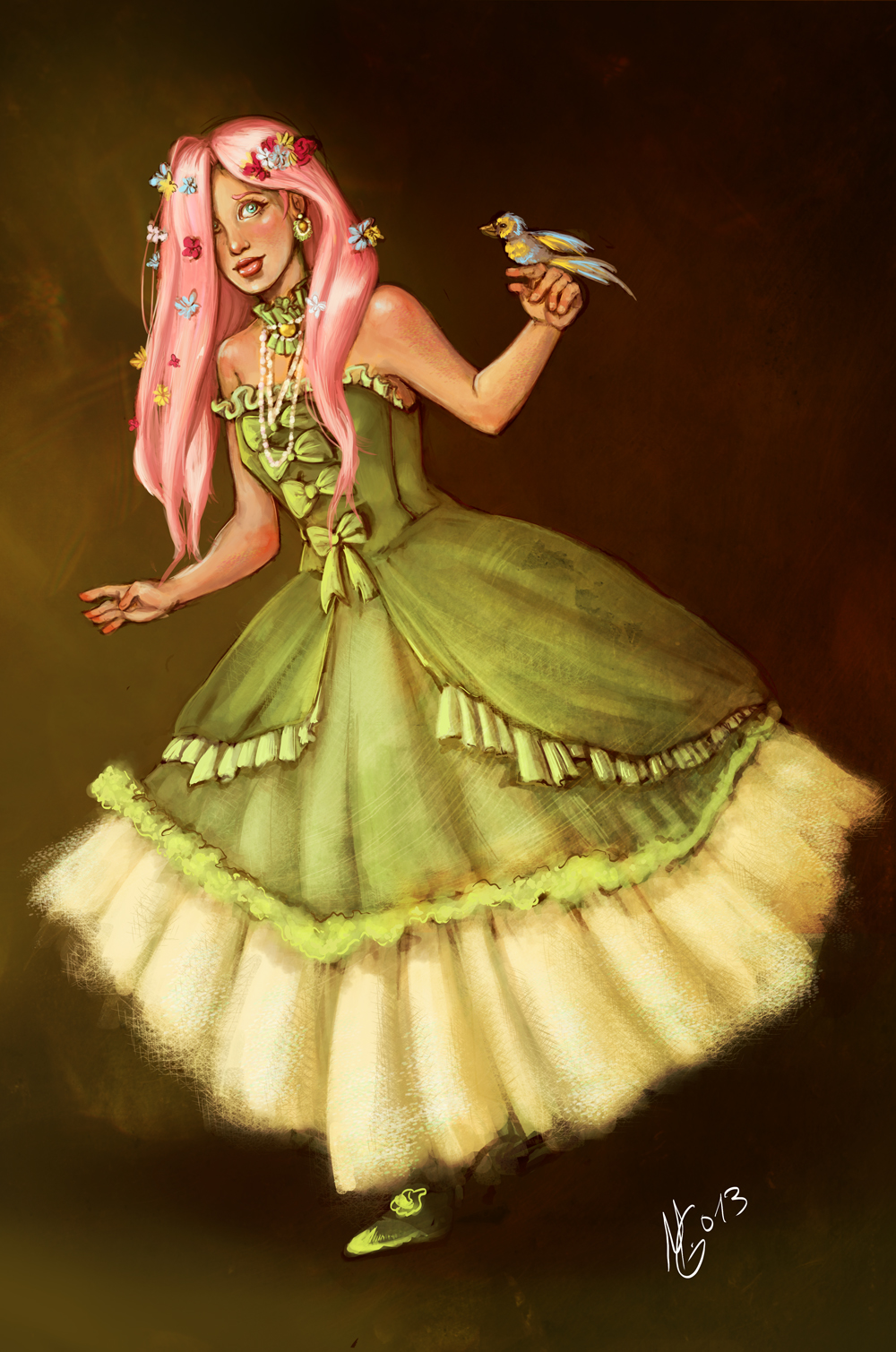 MLP crossover princess: Fluttershy. by PissedArtwork