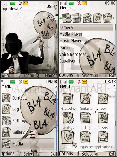 Bla-bla Nokia s40 3d Theme by Aquafeya