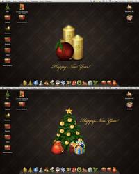 Happy new year desk by Aquafeya