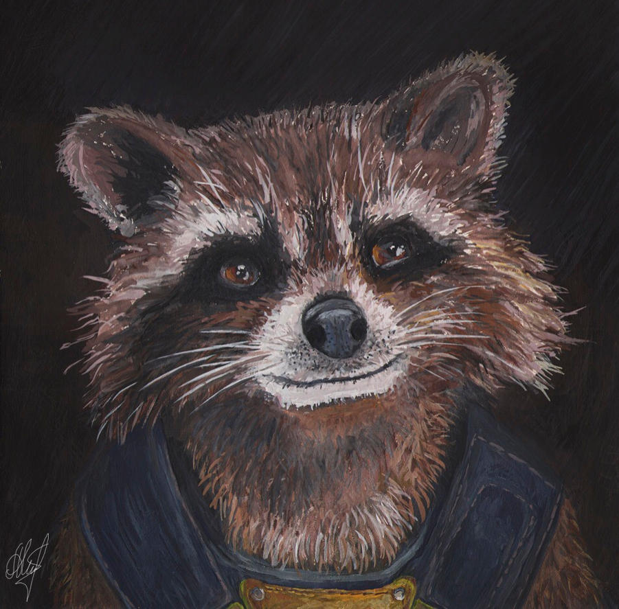 Rocket Raccoon by anettfrozen