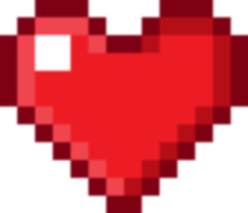 One Pixel Heart by slashingoverlord on DeviantArt