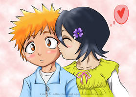 Innocent Kiss :Color: by Kuromi-xan