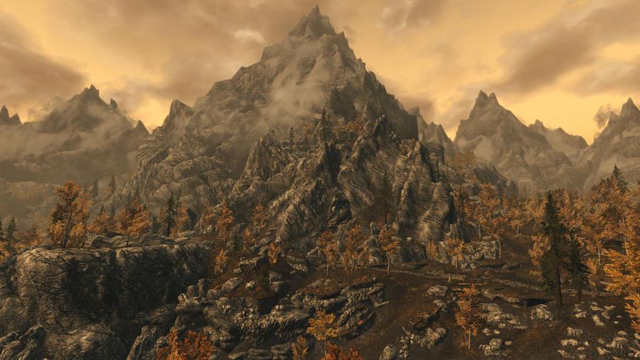 The Mountains of Skyrim by Vicki73