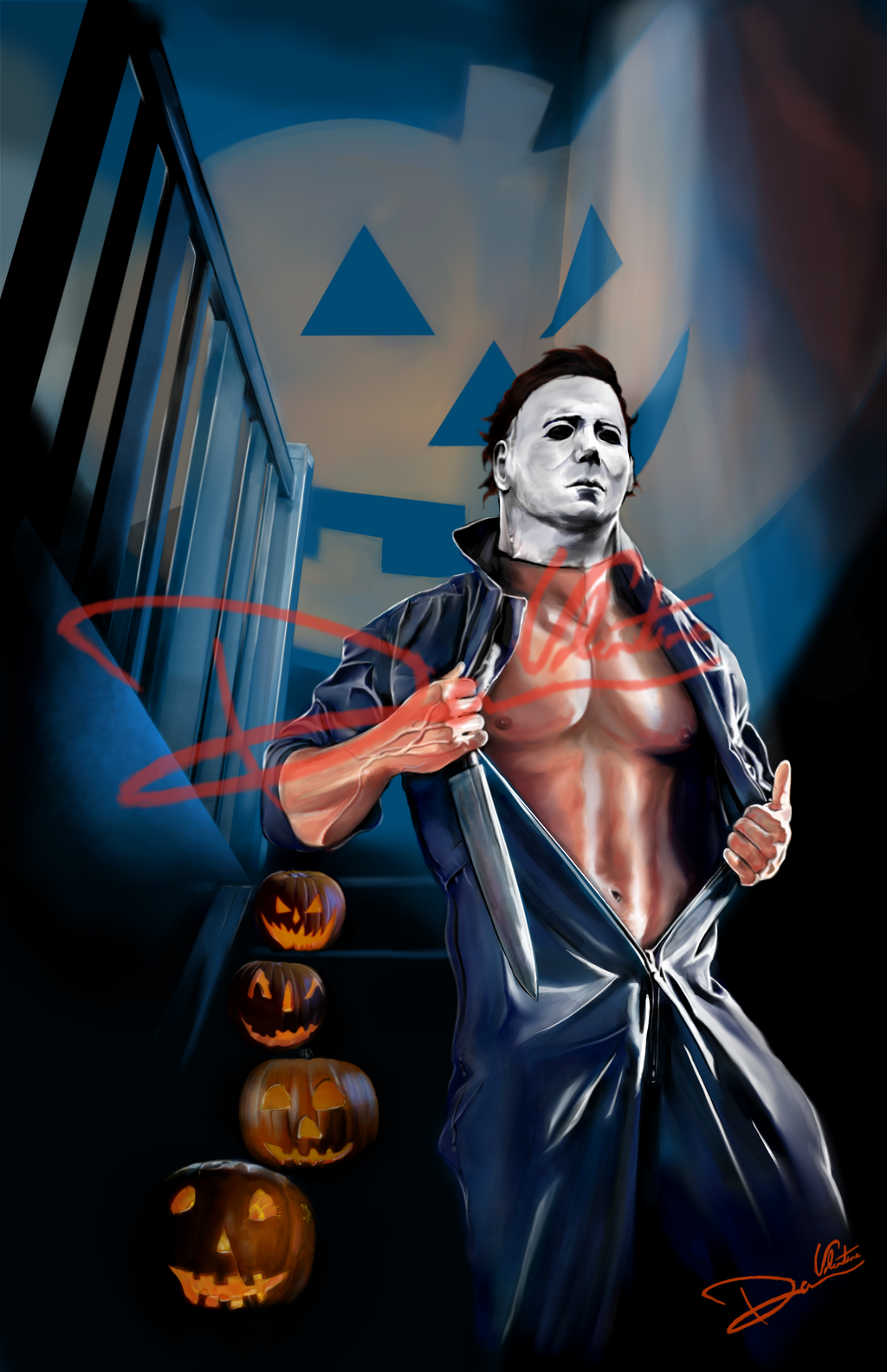 Michael Myers Halloween Hunks of Horror Pinup by Cordy5by5 on ...