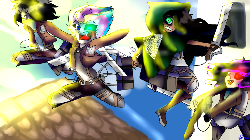 Attack on Mangled by RainbowSpectrum99