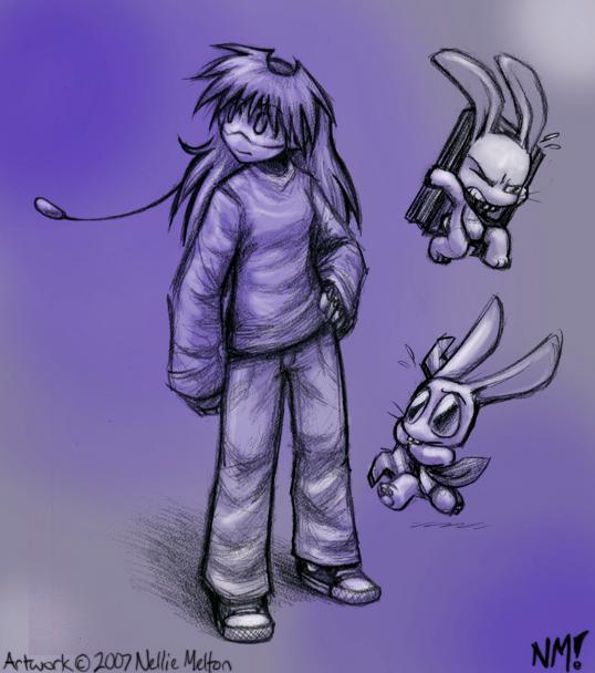 More ArtClass Sketches- N + RB by spookydoom