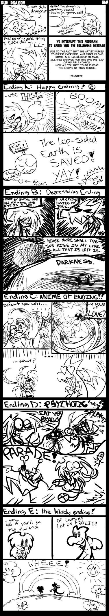 Comic- Duh Dragon by spookydoom
