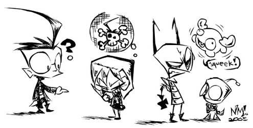 Fanart- Cast of ZIIIIM by spookydoom