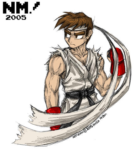 Art Trade-- A Ryu for Ben by spookydoom