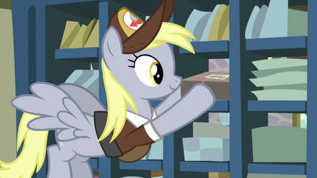 Derpy puts packgae on outgoing mail shelf s8 ep10