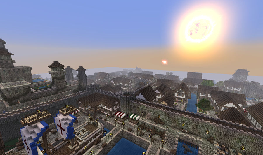 Minecraft - Medieval Town by Lexa2