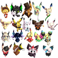 An old set of chu busts