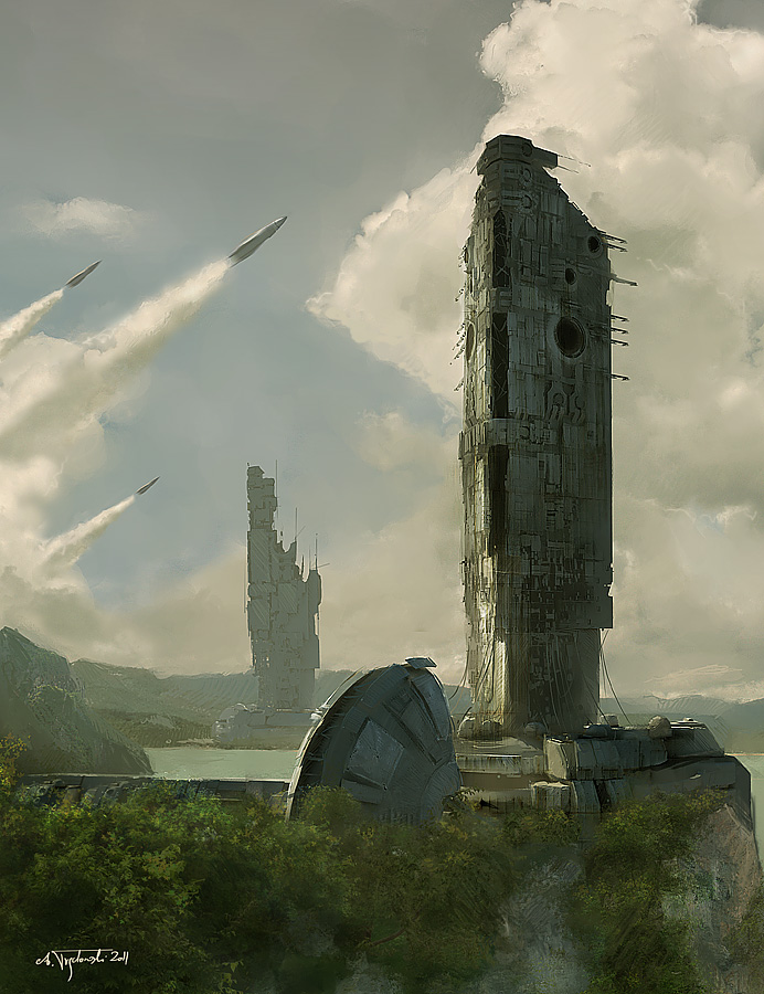 ...towers...