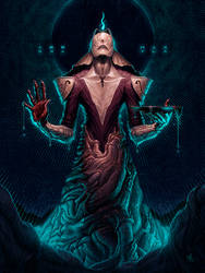 zaqiel, for pete mohrbacher's 'angelarium' by LostKeep