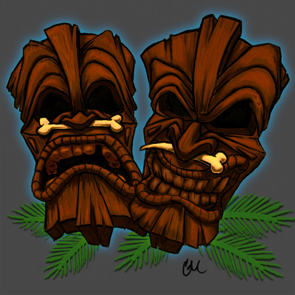 Tiki Masks by corporatefilth on DeviantArt