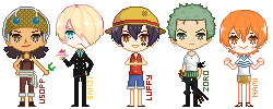 straw hats pixels by leihsa