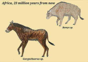 two new herbivores of far future by RaresAnimals