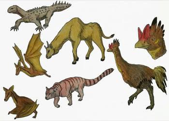 Some Future Animals of Madagascar (commission) by RaresAnimals