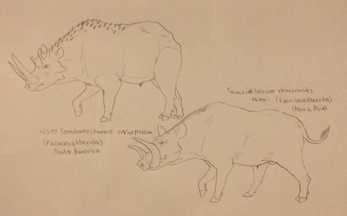 descendants like rhinos of Warthogs  FutureAnimal by RaresAnimals