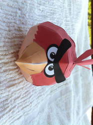 Paper Angry Bird Red - v1 - 2 by fred-zveiter