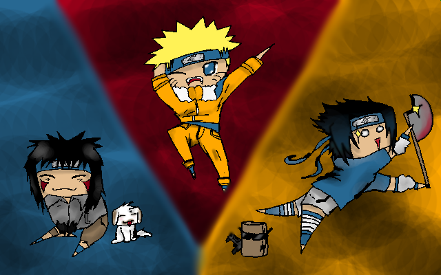 Naruto Kiba and Sasuke by Carolynzy6125andBSP