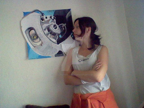 Up, close, and personal with GLaDOS by Carolynzy6125andBSP