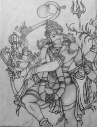 Hanuman by Ajunesh7