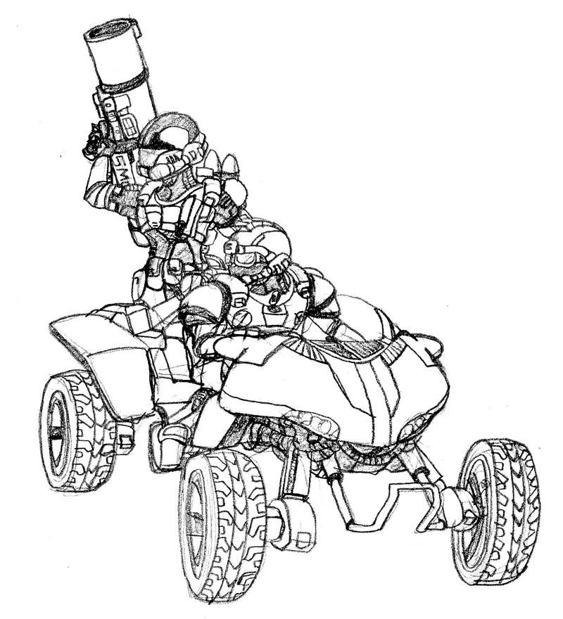 all terrain vehicle coloring pages - photo#5