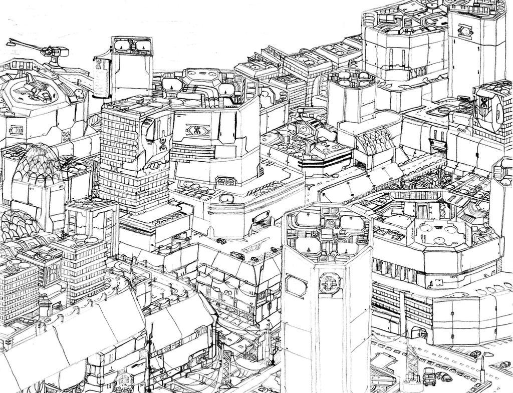Future City By SabrinaDBlood On DeviantArt