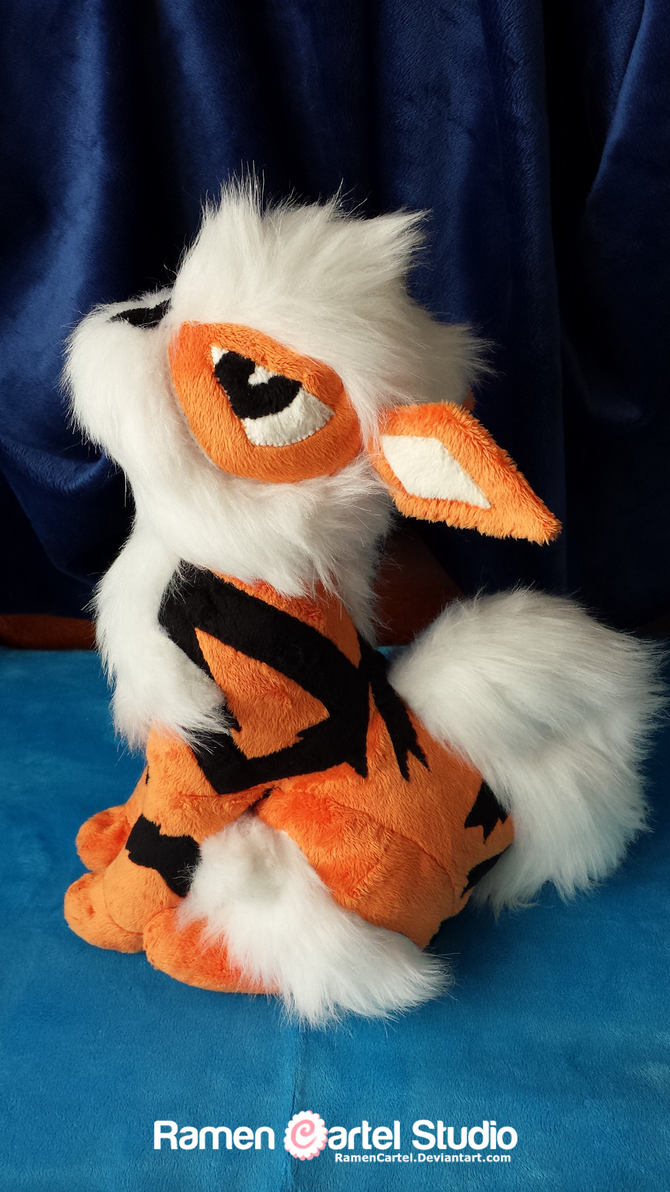 Pokemon Plushie 3.0: Scruffy the Arcanine by RamenCartel