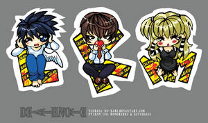 CAUTION: Death Note Chibis by Tsubasa-No-Kami