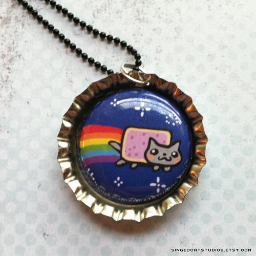 Nyan Cat Necklace by Tsubasa-No-Kami