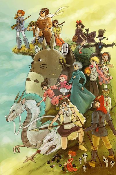 Studio Ghibli Homage by Tsubasa-No-Kami