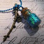Mini Enchanted Blue Bottle Fairy Necklace