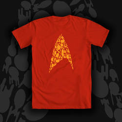Bodly Going Star Trek Tee Shirt Design by If-Wings-Could-Fly