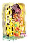 Marceline and Princess Bubblegum as The Kiss