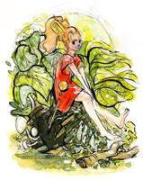 The Secret World of Arrietty Watercolor by Tsubasa-No-Kami
