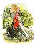 The Secret World of Arrietty Watercolor