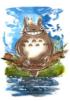 My Neighbor Totoro Watercolor by Tsubasa-No-Kami