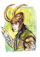 Loki Watercolor 2 by Tsubasa-No-Kami