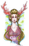 Deva Elf Lady with Coral Antlers