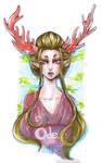 Deva Elf Lady with Coral Antlers