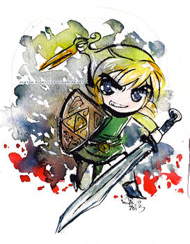 Toon Link Watercolor