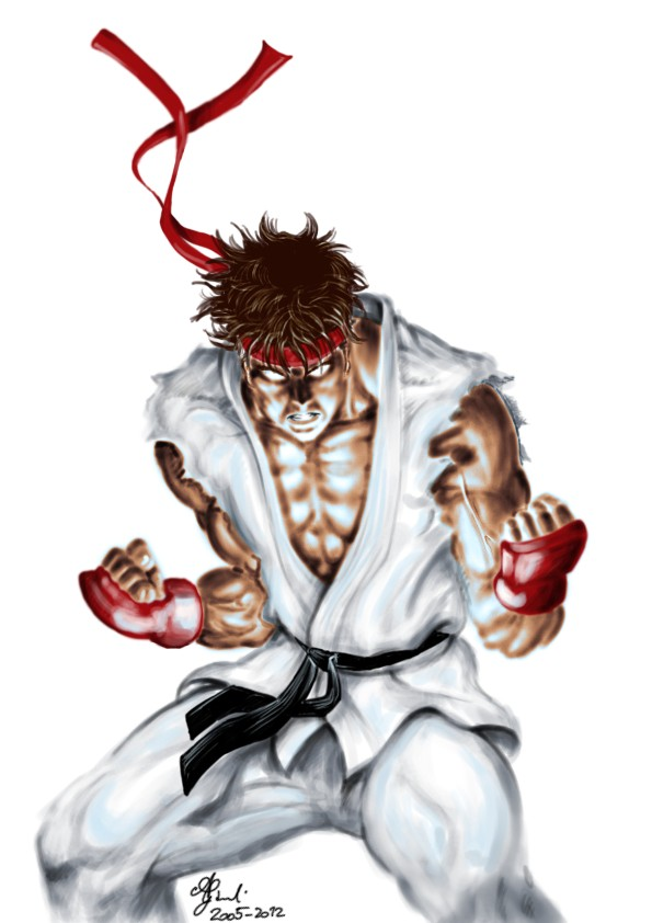 Ryu colored sketch by AlessandroGazzoli