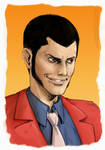 Lupin III portrait fanart by AlessandroGazzoli